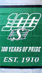 Saskatchewan Roughriders - 100 Years of Pride 3x5 vertical banner