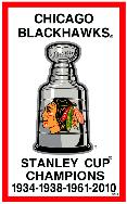 Chicago Blackhawks 4 year Stanley Cup Champions banner