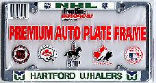 chrome Hartford Whalers license plate frame