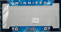 airbrushed Winnipeg Jets license plate frame