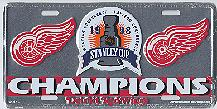 silver Detroit Red Wings 98 Stanley Cup Champions license plate