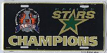black Dallas Stars 99 Stanley Cup Champions license plate