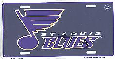 navy, new logo St Louis Blues license plate