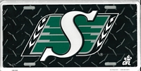 blac tred Saskatchewan Roughriders license plate