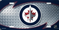 airbrushed Winnipeg Jets license plate