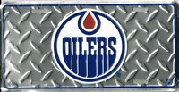 silver tred Edmonton Oilers bronze drop license plate