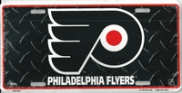 black tred Philadelphia Flyers license plate