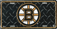black Boston Bruins license plate