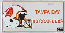 white old Tampa Bay Buccaneers license plate
