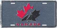 chrome Team Canada license plate