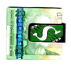 Saskatchewan Roughriders money clip